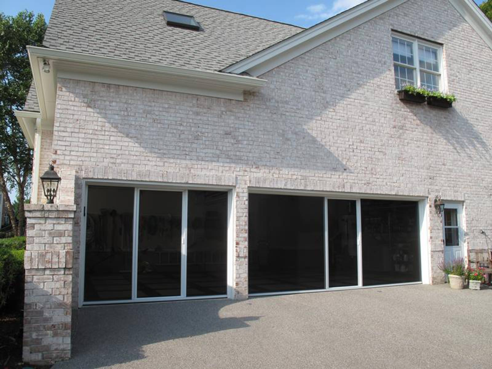 privacy new image for screen doors openings product garage door lifestyle screens